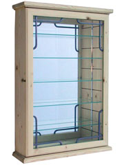 Trader Art Deco Lead Display Cabinet