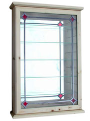 Treen Red Diamond Lead Display Cabinet