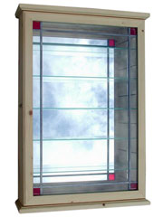 Gold Red Sqaure Lead Display Cabinet