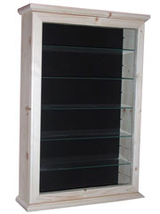 Trader Black Backboard Display Cabinet