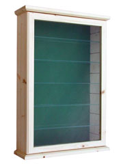 All Collectors Green Backboard Display Cabinet